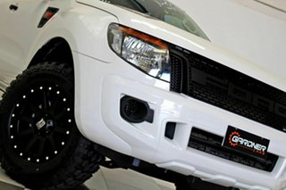 2014 Ford Ranger PX XL 2.2 (4x4) White 6 Speed Automatic Crew Cab Utility.
