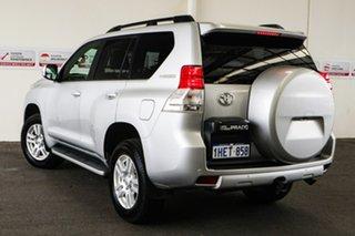 2011 Toyota Landcruiser Prado KDJ150R VX (4x4) Silver Pearl 5 Speed Sequential Auto Wagon.