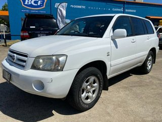 2005 Toyota Kluger MCU28R CV AWD White 5 Speed Automatic Wagon.