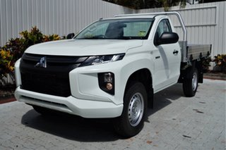 2020 Mitsubishi Triton MR MY21 GLX White 6 Speed Manual Cab Chassis