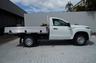 2020 Mitsubishi Triton MR MY21 GLX White 6 Speed Manual Cab Chassis.