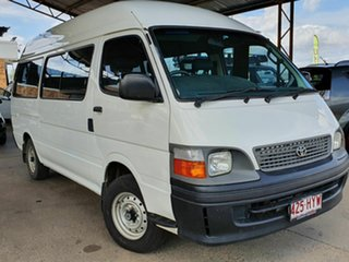 2004 Toyota HiAce COMMUTER White 5 Speed Manual Mini Bus.