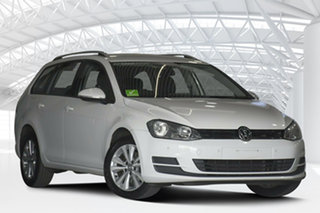 2015 Volkswagen Golf AU MY16 92 TSI Comfortline White 7 Speed Auto Direct Shift Wagon.