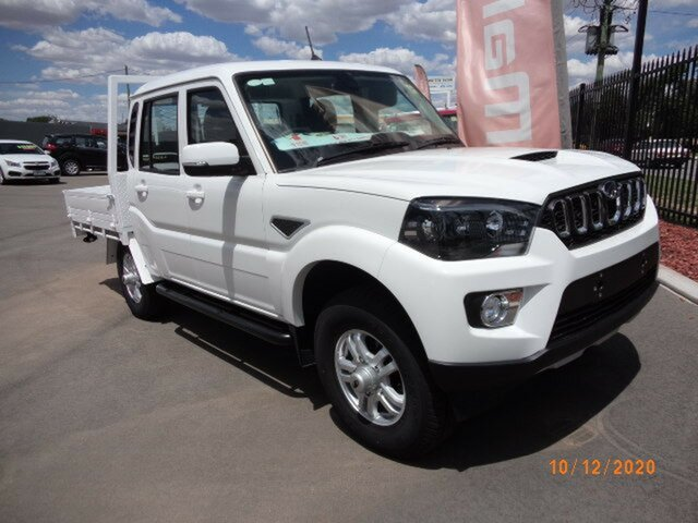 New Mahindra Pik-Up MY20 4WD S10+ Wagga Wagga, 2020 Mahindra Pik-Up MY20 4WD S10+ Arctic White 6 Speed Manual Dual Cab Utility