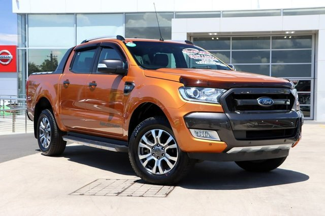 Used Ford Ranger PX MkII Wildtrak Double Cab Liverpool, 2017 Ford Ranger PX MkII Wildtrak Double Cab Pride Orange 6 Speed Sports Automatic Utility