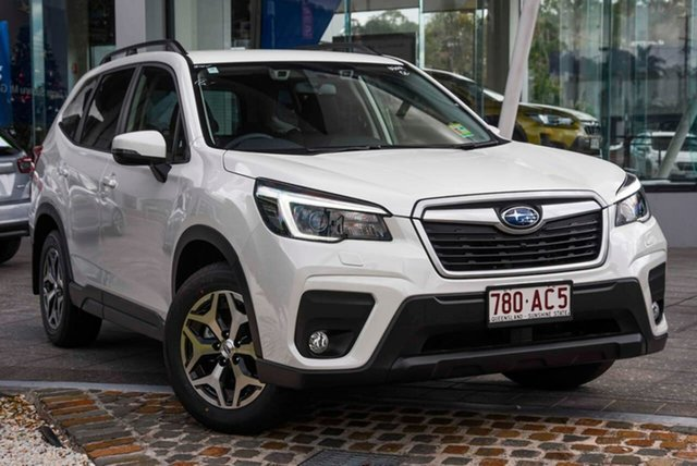 Demo Subaru Forester S5 MY21 2.5i-L CVT AWD Mount Gravatt, 2020 Subaru Forester S5 MY21 2.5i-L CVT AWD Crystal White Pearl 7 Speed Constant Variable Wagon