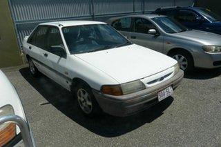 1993 Ford Laser White Hatchback.