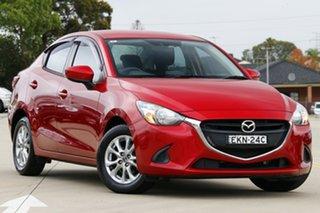 2015 Mazda 2 DL2SA6 Maxx SKYACTIV-MT Red 6 Speed Manual Sedan.