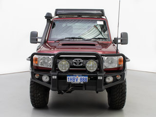 2015 Toyota Landcruiser VDJ79R MY12 Update GXL (4x4) Red 5 Speed Manual Double Cab Chassis.