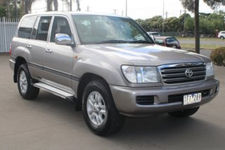 2004 Toyota Landcruiser UZJ100R Kakadu (4x4) Bronze & Silver 5 Speed Automatic Wagon.