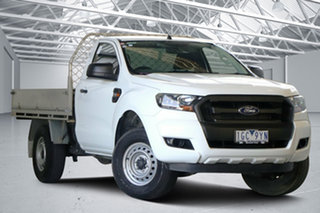 2015 Ford Ranger PX MkII XL 2.2 Hi-Rider (4x2) Cool White 6 Speed Automatic Cab Chassis.