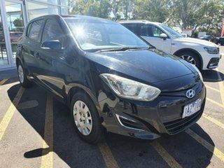2013 Hyundai i20 PB MY14 Elite Black 6 Speed Manual Hatchback.