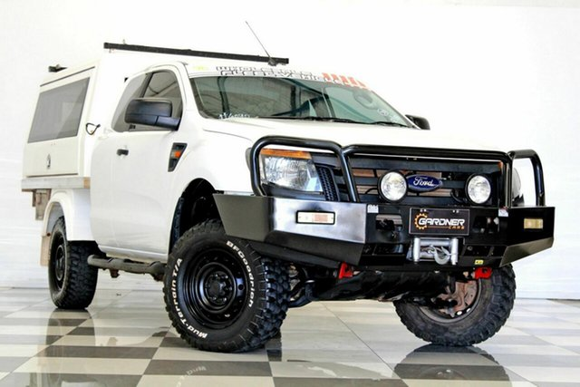 Used Ford Ranger PX XL 3.2 (4x4) Burleigh Heads, 2012 Ford Ranger PX XL 3.2 (4x4) White 6 Speed Manual Super Cab Chassis