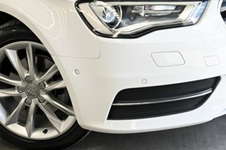 2016 Audi A3 8V MY16 Attraction Sportback S Tronic White 7 Speed Sports Automatic Dual Clutch.