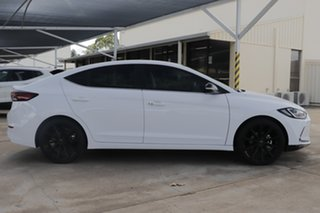 2017 Hyundai Elantra AD MY18 Elite White 6 Speed Sports Automatic Sedan.