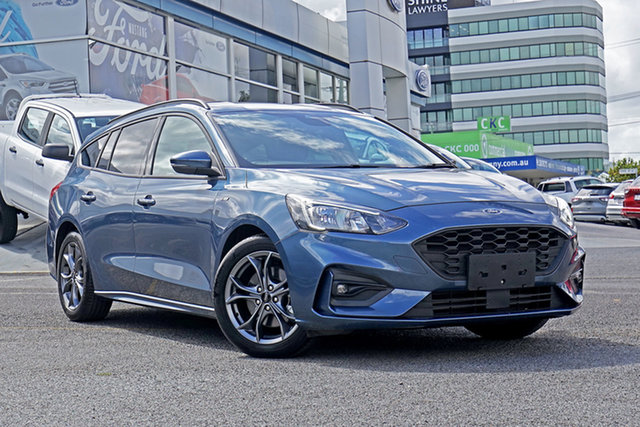 Used Ford Focus SA 2019.25MY ST-Line Springwood, 2019 Ford Focus SA 2019.25MY ST-Line Blue 8 Speed Automatic Wagon