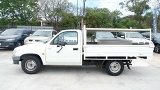 2001 Toyota Hilux RZN147R Workmate 4x2 White 5 Speed Manual Utility