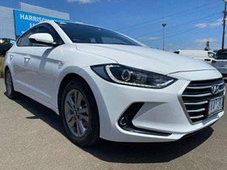 2017 Hyundai Elantra AD MY17 Active Polar White 6 Speed Sports Automatic Sedan.