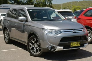 2014 Mitsubishi Outlander ZJ MY14.5 Aspire 4WD Grey 6 Speed Sports Automatic Wagon.
