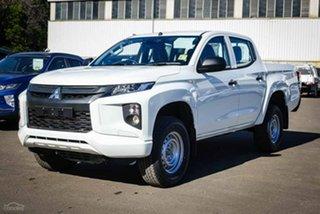 2020 Mitsubishi Triton MR MY21 GLX Double Cab ADAS White 6 Speed Sports Automatic Utility.