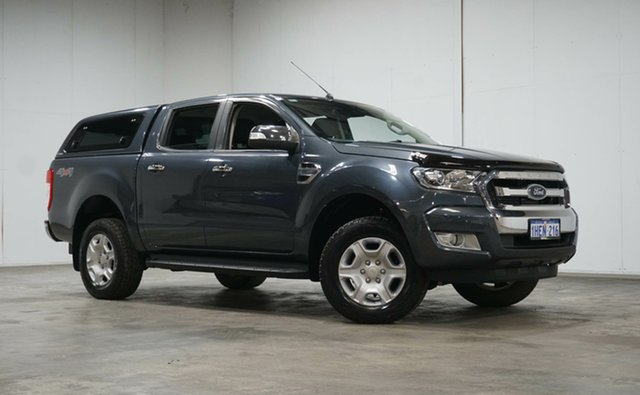 Used Ford Ranger PX MkII XLT Double Cab Welshpool, 2015 Ford Ranger PX MkII XLT Double Cab Grey 6 Speed Sports Automatic Utility