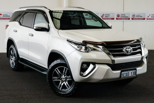 Pre-Owned Toyota Fortuner GUN156R GXL Myaree, 2015 Toyota Fortuner GUN156R GXL Crystal Pearl 6 Speed Automatic Wagon