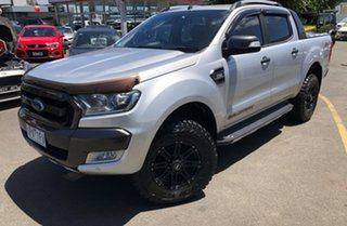 2017 Ford Ranger PX MkII Wildtrak Double Cab Silver 6 Speed Sports Automatic Utility.