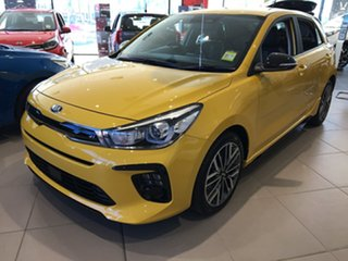 2020 Kia Rio YB MY21 GT-Line DCT Mighty Yellow 7 Speed Sports Automatic Dual Clutch Hatchback.