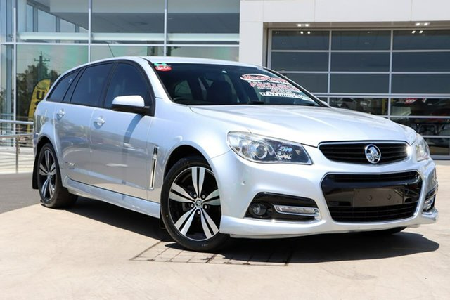 Used Holden Commodore VF MY14 SV6 Sportwagon Storm Liverpool, 2014 Holden Commodore VF MY14 SV6 Sportwagon Storm Silver 6 Speed Sports Automatic Wagon