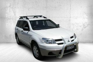 2006 Mitsubishi Outlander ZF MY06 LS White 4 Speed Sports Automatic Wagon.