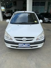 2008 Hyundai Getz TB MY07 S White 5 Speed Manual Hatchback.