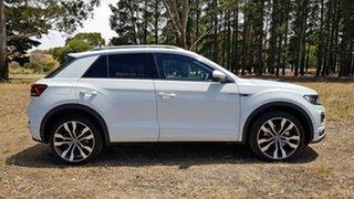 2020 Volkswagen T-ROC A1 MY21 140TSI DSG 4MOTION Sport White Silver 7 Speed.