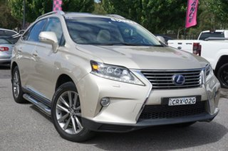2013 Lexus RX GYL15R MY12 RX450h Sports Luxury Gold 6 Speed Constant Variable Wagon.