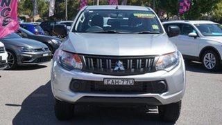 2018 Mitsubishi Triton MQ MY18 GLX+ Double Cab Silver 6 Speed Manual Utility.