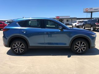 2019 Mazda CX-5 KF4WLA GT SKYACTIV-Drive i-ACTIV AWD Eternal Blue 6 Speed Sports Automatic Wagon.