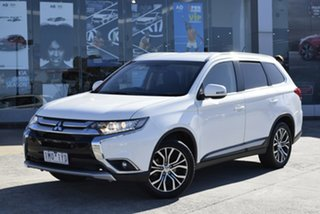 2015 Mitsubishi Outlander ZK MY16 LS 2WD White 6 Speed Constant Variable Wagon.