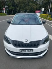 2016 Skoda Fabia NJ MY17 81TSI DSG Monte Carlo White 7 Speed Sports Automatic Dual Clutch Hatchback.