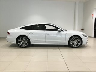 2018 Audi A7 4K MY19 55 TFSI Sportback S Tronic Quattro Ultra White 7 Speed.