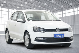2015 Volkswagen Polo 6R MY15 66TSI Trendline Pure White 5 Speed Manual Hatchback.