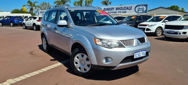 Used Mitsubishi Outlander ZG MY07 LS East Bunbury, 2007 Mitsubishi Outlander ZG MY07 LS Silver 6 Speed Constant Variable Wagon