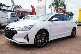 2020 Hyundai Elantra AD.2 MY20 Sport Premium (Black) White 6 Speed Manual Sedan.