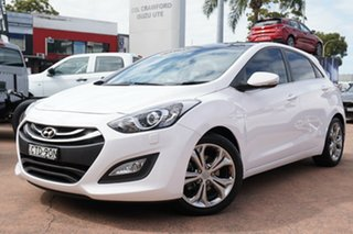 2014 Hyundai i30 GD MY14 Premium White 6 Speed Automatic Hatchback.