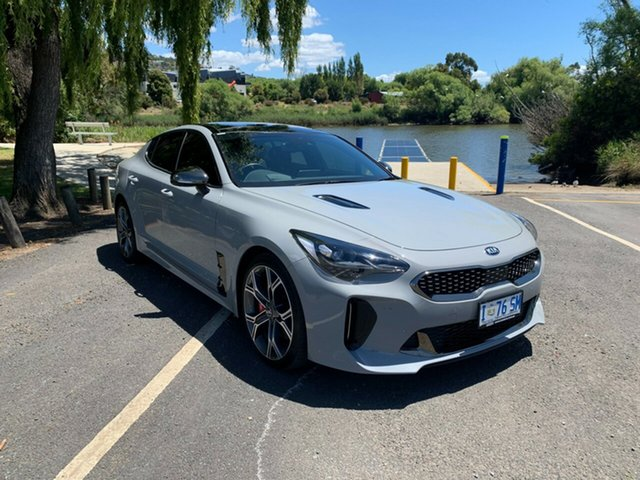 Used Kia Stinger CK MY19 GT Fastback Launceston, 2019 Kia Stinger CK MY19 GT Fastback Grey 8 Speed Sports Automatic Sedan
