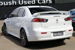 2016 Mitsubishi Lancer CF MY17 GSR White 6 Speed Constant Variable Sedan.