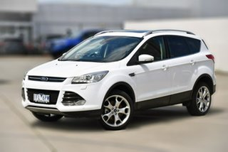 2015 Ford Kuga TF MY15 Titanium AWD White 6 Speed Sports Automatic Wagon.