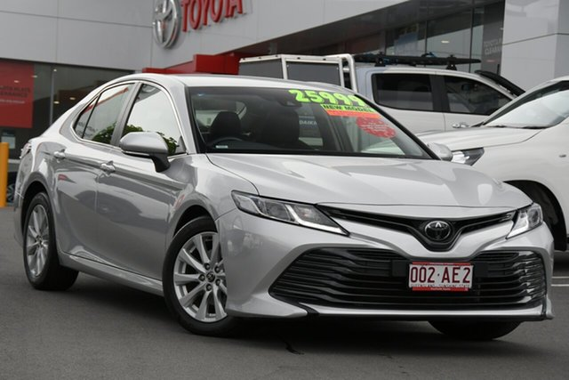 Pre-Owned Toyota Camry ASV70R Ascent Woolloongabba, 2019 Toyota Camry ASV70R Ascent Silver 6 Speed Sports Automatic Sedan