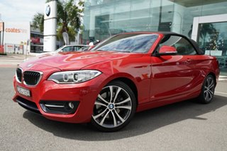 2015 BMW 228i F23 MY16 Sport Line Melbourne Red 8 Speed Automatic Convertible.