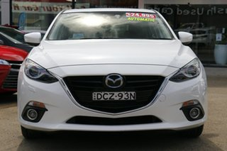 2016 Mazda 3 BM5438 SP25 SKYACTIV-Drive GT White Pearl 6 Speed Sports Automatic Hatchback