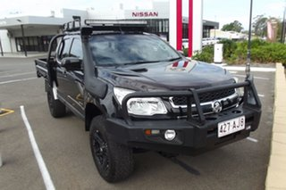 2013 Holden Colorado RG MY13 LX Crew Cab Black 5 Speed Manual Cab Chassis.
