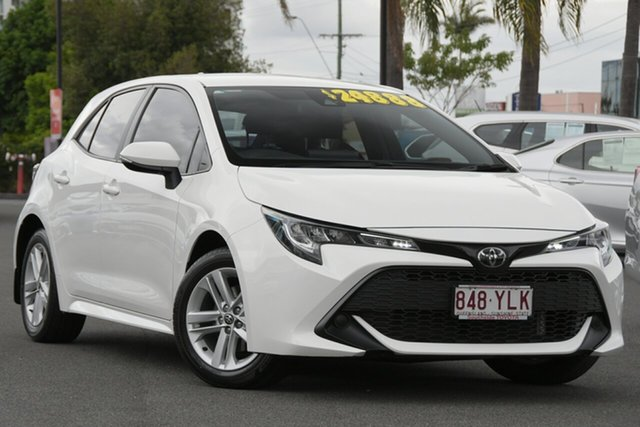 Pre-Owned Toyota Corolla Mzea12R Ascent Sport Woolloongabba, 2018 Toyota Corolla Mzea12R Ascent Sport White 10 Speed Constant Variable Hatchback